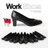 BONJOUR☆357氣墊高跟鞋☆可彎曲OL空姐靜音職場平底鞋(羊皮製)Work Shoes【ZB0247】黑 0