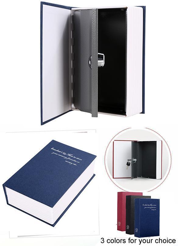 Dictionary  shape security box with Lock and Key Medium 0