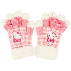三麗鷗 Sanrio Hello Kitty  兒童 毛線 雙層 手套