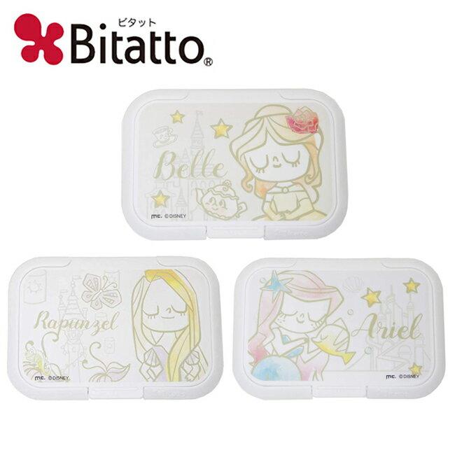 【日本正版】迪士尼公主 濕紙巾蓋 L號 濕紙巾盒蓋 重複黏 貝兒公主 長髮公主 小美人魚 Disney Bitatto