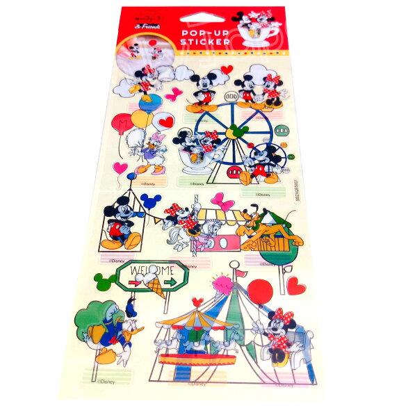 【真愛日本】18050800019迪士尼站立貼-米奇迪士尼米奇米妮米老鼠高飛唐老鴨貼紙站立標籤貼紙立標貼紙收藏