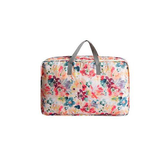 ~MY COLOR~ 花草系列大容量棉被收納袋 小  旅行行李袋 防塵 防髒 滌綸 防水