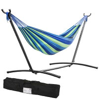 Deals on Double Hammock With Space Saving Steel Stand