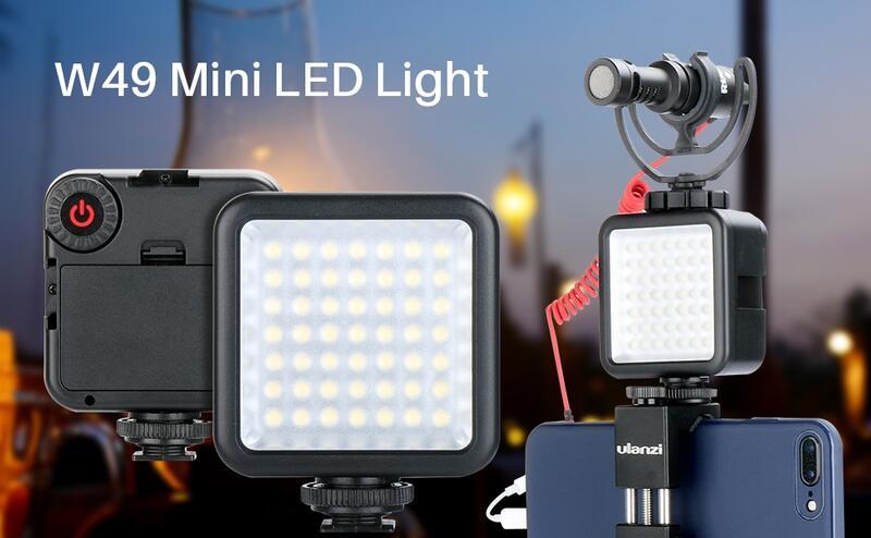 【中壢NOVA-水世界】Ulanzi W49 LED補光燈 持續燈 迷你補光燈 可串接 亮度可調 自拍燈 直播