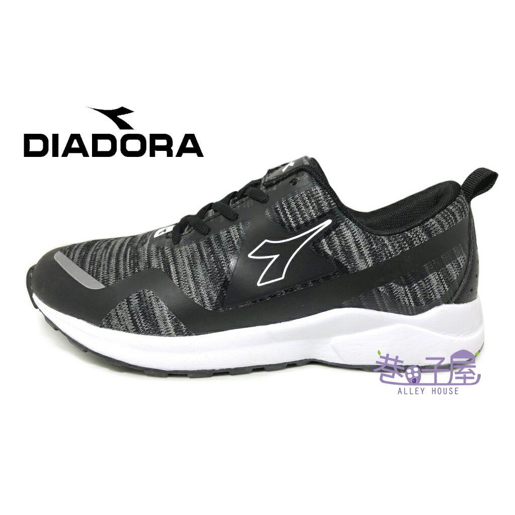【巷子屋】義大利國寶鞋-DIADORA迪亞多納 女款寬楦記憶鞋墊超輕潮流慢跑鞋 [3770] 黑