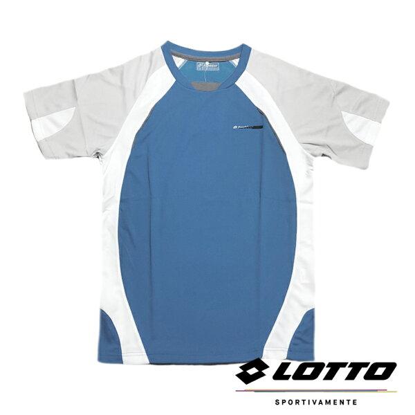 【巷子屋】義大利第一品牌-LOTTO樂得男款多功能快排圓領T-SHIRT運動排汗衫[LT3BMT00561]藍色超值價$298