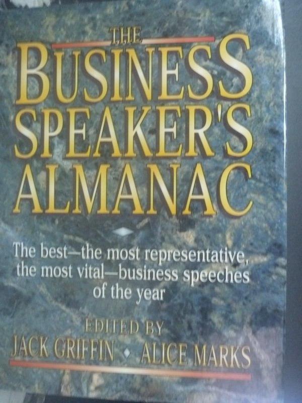 【書寶二手書T2/財經企管_WFM】The business speaker's almanac