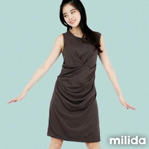 【Milida,全店七折免運】-夏季洋裝-無袖款-氣質長版洋裝 3