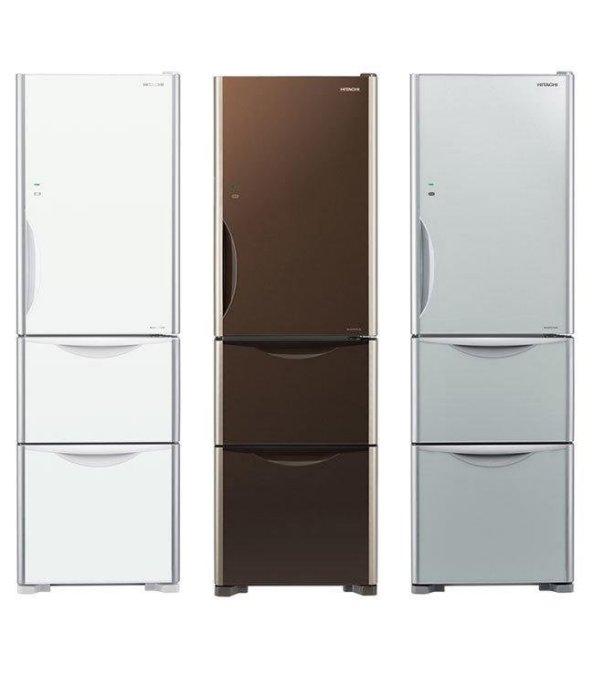HITACHI日立 智慧變頻 三門冰箱 琉璃棕/琉璃白/琉璃瓷( RG36B(加碼送 飛利浦吹風機 BHD006)