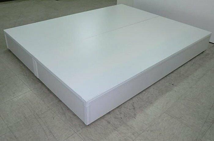 【尚品傢俱】☆特別優惠☆ 101-04 白色5尺床底箱(3分)~另有3.5尺、6尺床底箱~六色可選,可做木心板