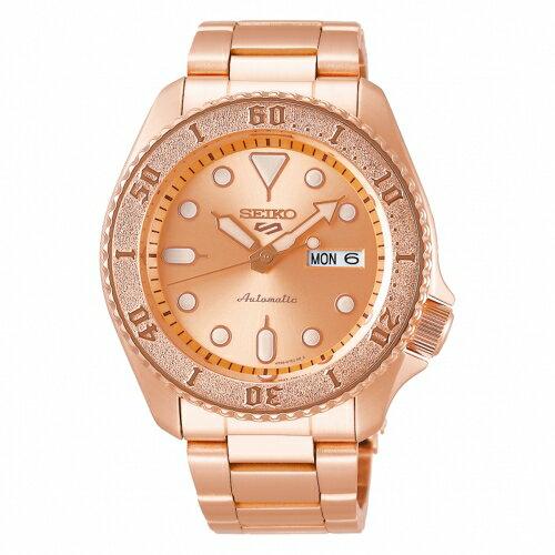 SEIKO 5 sport運動潮流機械腕錶/玫瑰色4R36-08E0K(SRPE72K1)