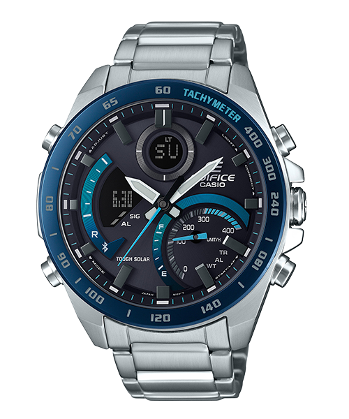 CASIO 卡西歐 ECB-900DB-1B EDIFICE 時尚科技藍牙賽車錶款 黑 48mm