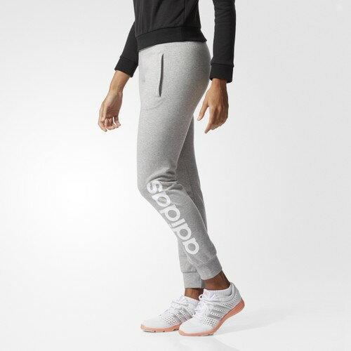 [尋寶趣] Adidas 女款 棉質 縮口 長褲 女 灰 BK5445