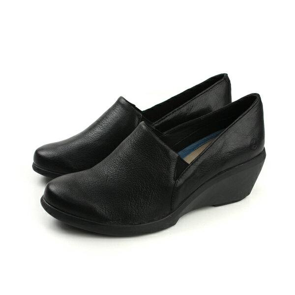 Hush Puppies 懶人鞋 休閒 天然皮革 楔型 黑色 女鞋 6174W178701