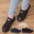 格子舖*【AAF107】(女款35~39) 日韓雜誌推薦 經典百搭基本款牛仔 綁帶4CM增高厚底帆布鞋 2色 0