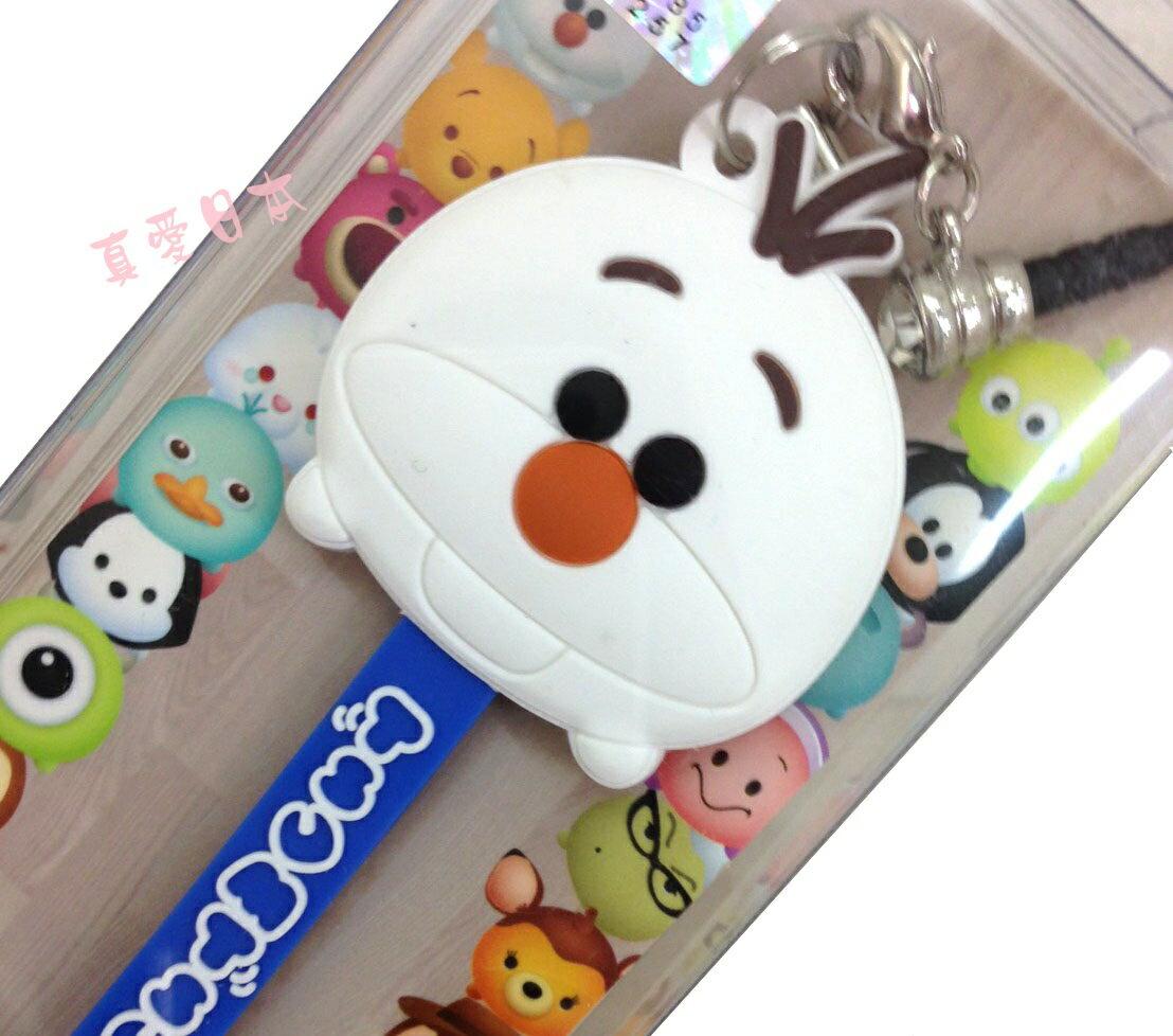 【真愛日本】16072200011吊飾捲線器-雪寶  迪士尼 冰雪奇緣 Frozen  耳機集線器 收線器 正品