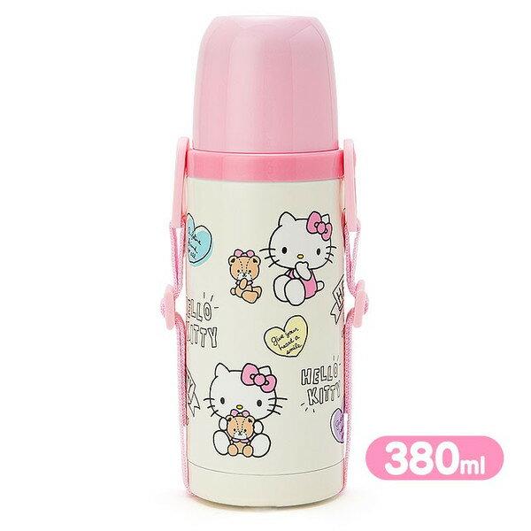 X射線【C879047】Hello Kitty 2way不鏽鋼水壺(s)-心380ml,隨手瓶/保溫杯/直飲式水壺/保冷保溫/環保