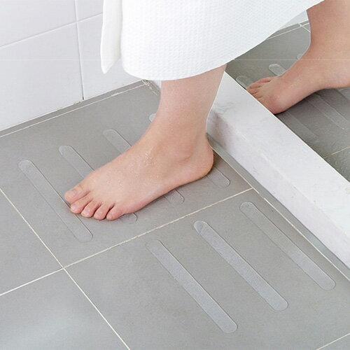 浴室浴缸透明防滑貼(5條裝)樓梯台階防滑膠帶浴室淋浴間地板防滑條