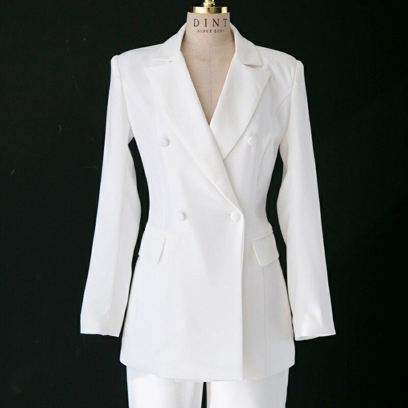西裝套裝西裝外套+長褲(兩件套)-修身百搭純色經典女西服2色73xs19【獨家進口】【米蘭精品】