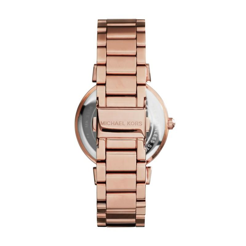 美國Outlet正品代購 MichaelKors MK 復古羅馬滿天星貝殼面鑲鑽黑玫瑰金     手錶 腕錶 MK3356 3