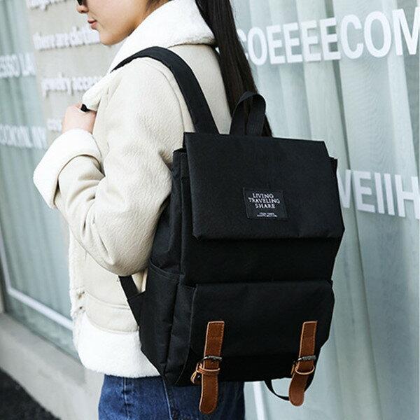 後背包- 新款質感大容量時尚掀蓋後背包-0308 想念妳-寶來小舖Bolai-現貨販售