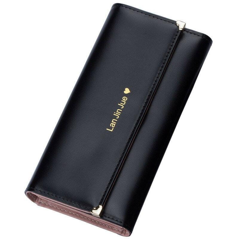 長夾 簡約時尚心型鉚釘長皮夾 6色 43578#【寶來小舖】現貨販售