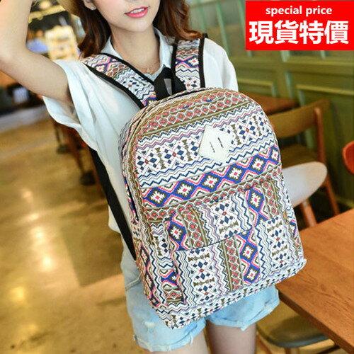 後背包-圖騰民族風休閒時尚後背包-共2色-LK553-寶來小舖 現貨販售