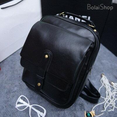(現貨 附發票)復古銅釦時尚皮革後背包 A873【寶來小舖Bolai Shop】