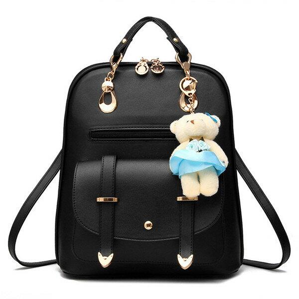 小熊掛飾後背包