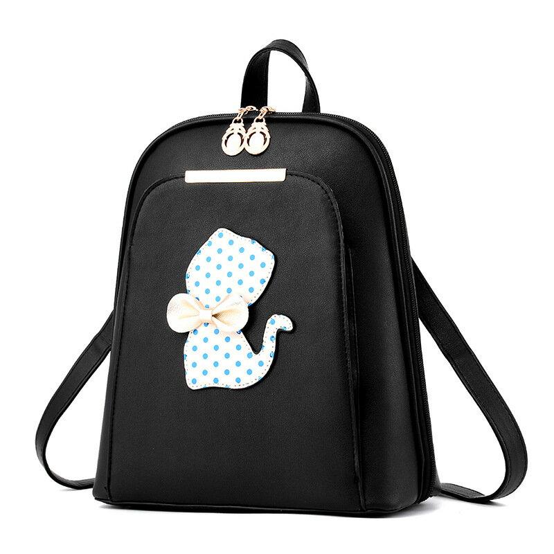 後背包 新款時尚貓咪蝴蝶結後背包-cat3001 -寶來小舖bolai-現貨販售
