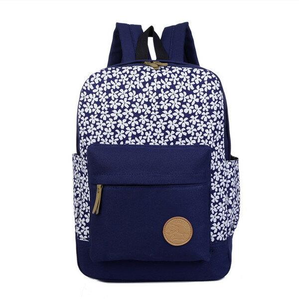 ^( 附發票^)後背包 日系櫻花朵朵學院風後背包 休閒旅行包書包通勤包 寶來小舖