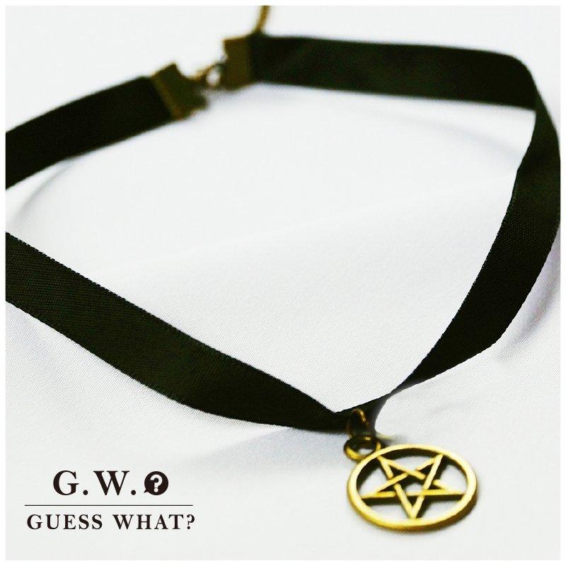 G.W.暗黑古銅星項鍊❥韓泫雅日蘿莉蕾哈娜❥鎖骨頸圈❥ 龐克搖滾女巫❥街頭亮眼❥水原希子孔