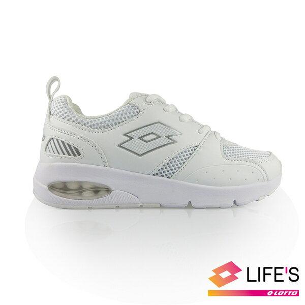 LOTTO樂得-義大利第一品牌 女款DAY RIDE碟膠避震跑鞋 小白鞋 [0099] 白【巷子屋】