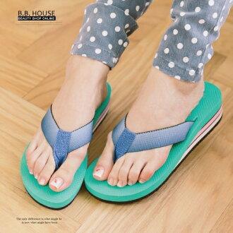 拖鞋-PLAYBOY輕盈夾腳海灘拖鞋.寶貝窩 .【PYS1207】(粉綠色)
