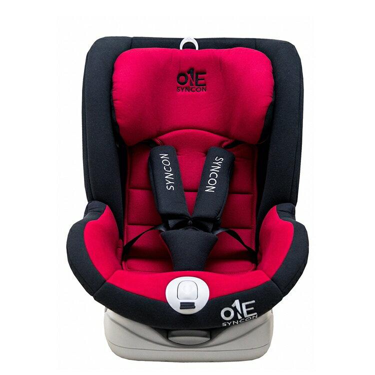 Syncon欣康 ONE 0-12歲ISOFIX全歲段360度汽車安全座椅(汽座) -紅黑