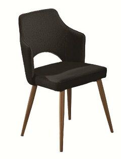 【石川家居】JF-485-5艾拉黑皮鐵藝餐椅(單只)(不含其他商品)台北到高雄搭配車趟免運