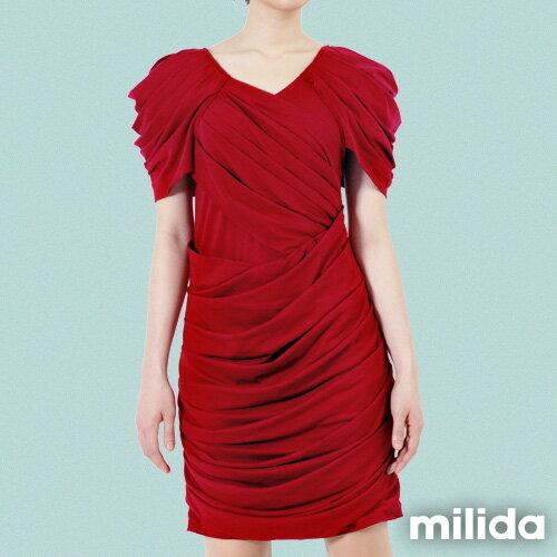 【Milida,全店七折免運】-夏季洋裝-造型款-甜美公主袖設計 1
