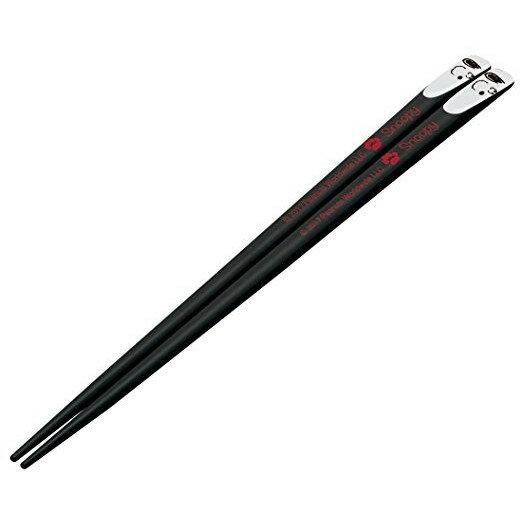 【真愛日本】18080600027天然竹筷22.5cm-SN大臉黑史努比snoopy筷子天然木木筷餐具