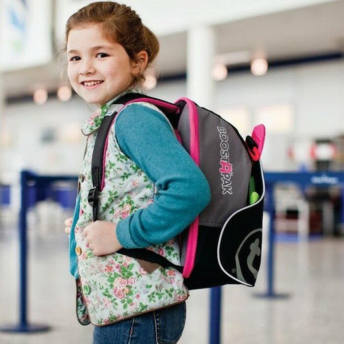 【淘氣寶寶】英國 Trunki BoostApak 兒童增高椅背包/汽車安全座椅與背包(粉)【保證公司貨】
