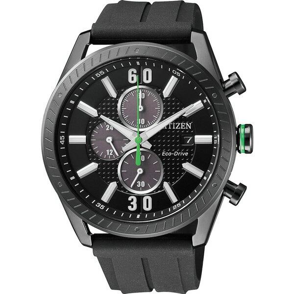 富茂鐘錶 CITIZEN Eco-Drive 光動能運動計時碼錶 43mm /  CA0667-12E