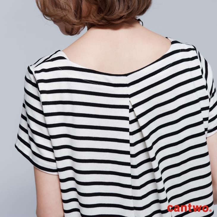 cantwo雙色條紋短袖洋裝(共三色) 5