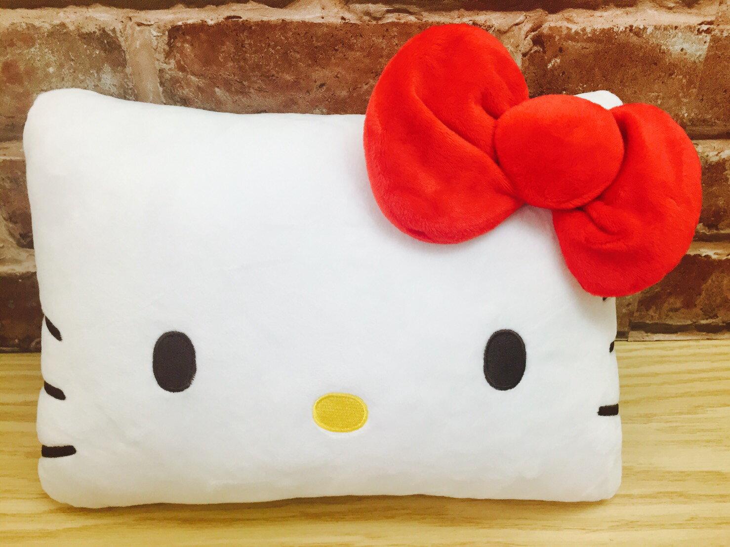 【真愛日本】17041800001 大臉長型抱枕-KT紅結 三麗鷗 Hello Kitty 凱蒂貓  抱枕 靠枕