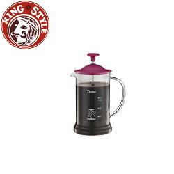 金時代書香咖啡 Tiamo 多功能法式玻璃濾壓壺 650cc 粉色 HG2110PK