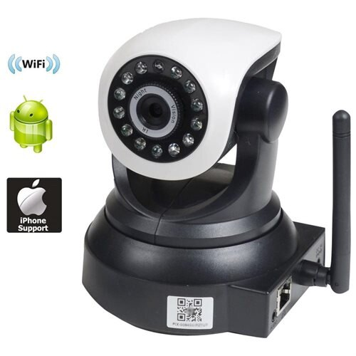 VideoSecu Baby Monitor and Nanny Security Camera Audio IP Wi-Fi Wireless  Smartphone iPhone iPad Android PC Pan Tilt IR Day Night Vision BKT