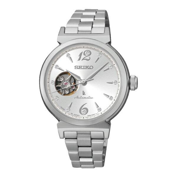 Seiko Lukia 4R38-00N0N(SSA891J1)典雅亮白鏤空機械腕錶/白面34mm