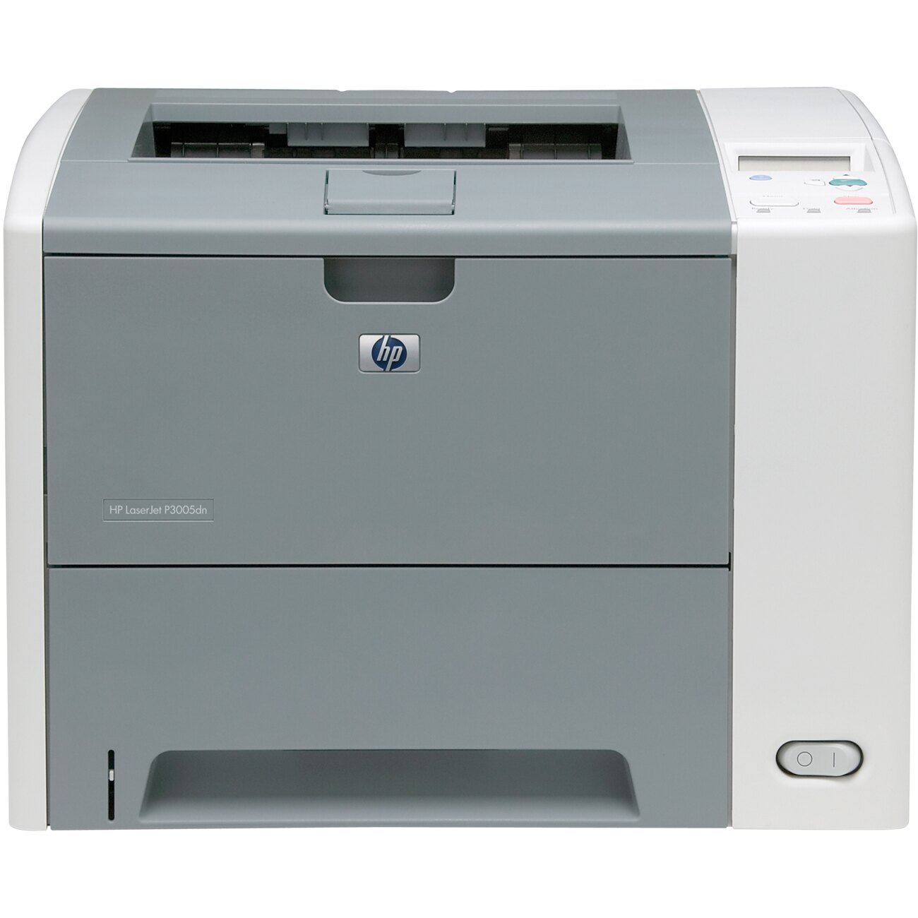 HP LaserJet P3000 P3005DN Laser Printer - Monochrome - 1200 x 1200 dpi Print - Plain Paper Print - Desktop - 35 ppm Mono Print - Letter, Legal, Executive, Custom Size - 600 sheets Standard Input Capacity - 100000 Duty Cycle - Automatic Duplex Print - Ethe 0