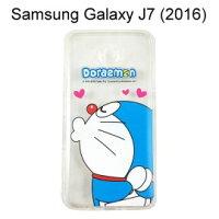 小叮噹週邊商品推薦哆啦A夢空壓氣墊軟殼 [嘟嘴] Samsung J710 Galaxy J7 (2016) 小叮噹【正版授權】