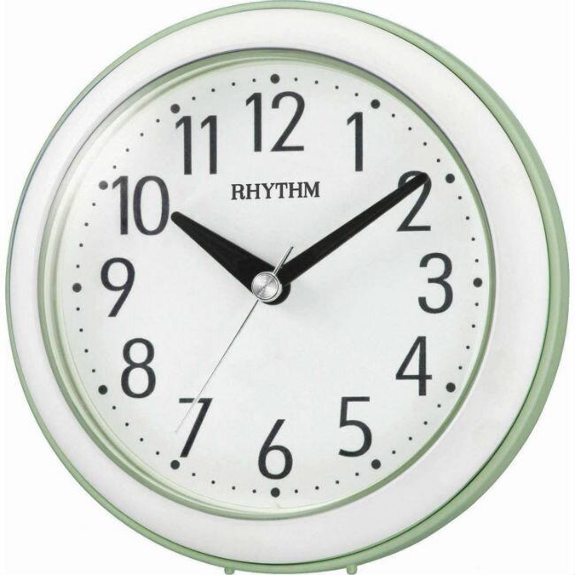 大高雄鐘錶城 RHYTHM 麗聲鐘(4KG711) 亮綠圓形時尚掛鐘/ 11.8cm