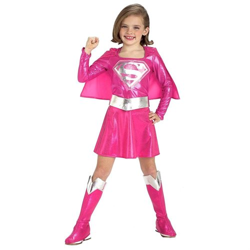 Powerful Pink Deluxe Supergirl Costume: Girl's Size 4-6 0