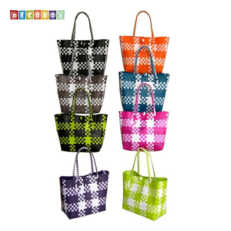 DecoBox蘇格蘭小環保包(2個)(購物袋,野餐.手工編織包)